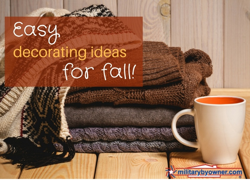 Easy fall home decorating ideas.