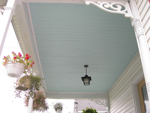 Add a punch of color with ceiling paint.