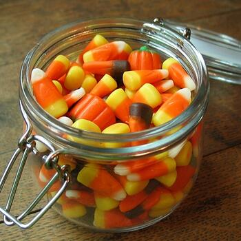 Candy Corn in a Jar