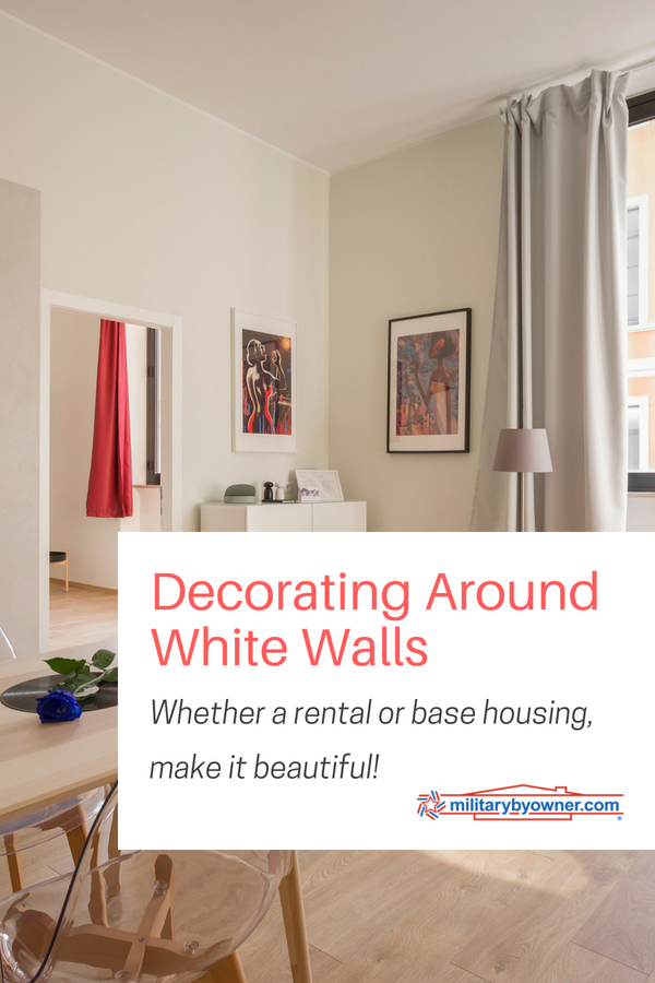 Decorating Around the White Walls of a Rental