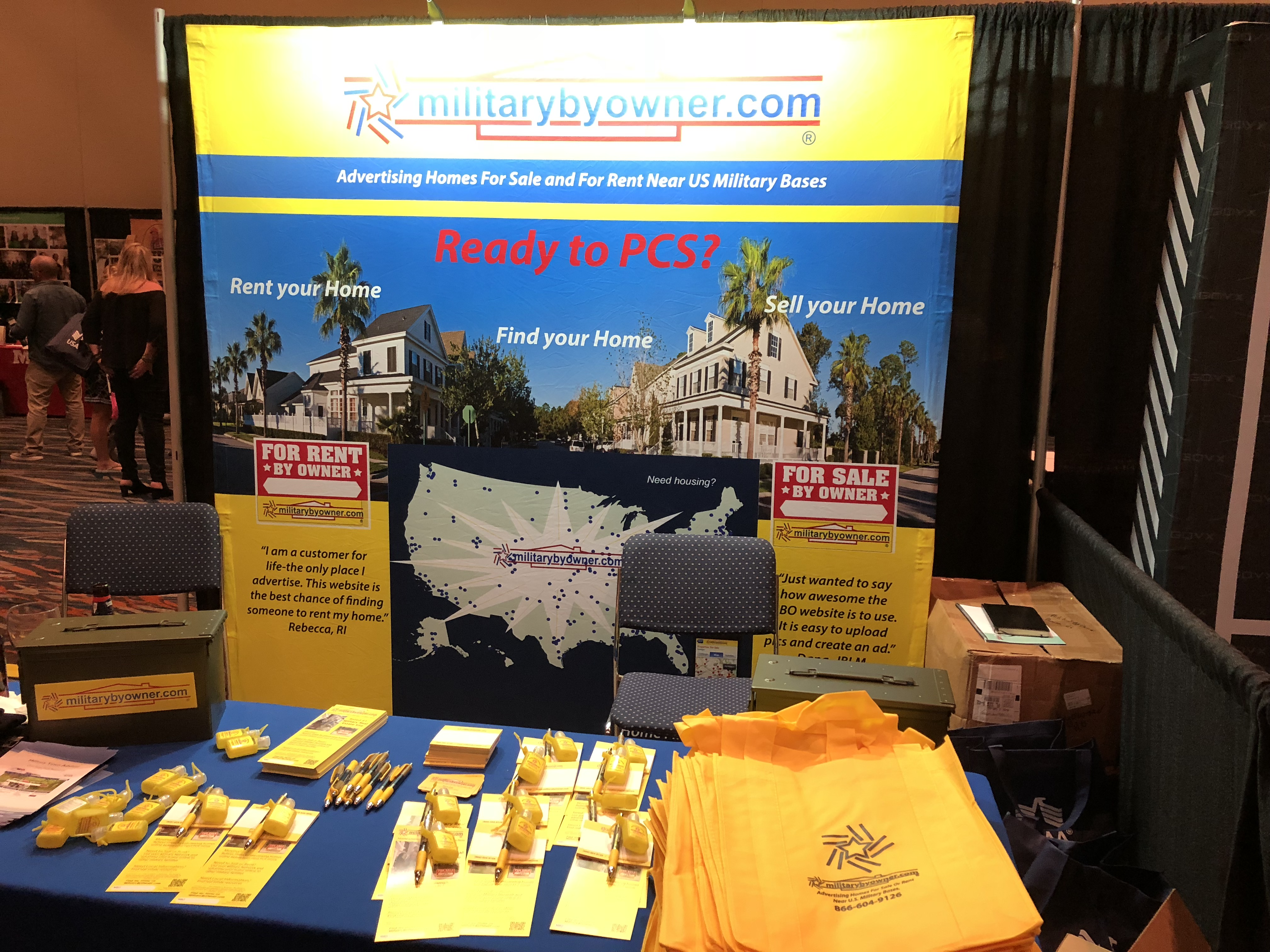MilitaryByOwner booth at Expo Hall