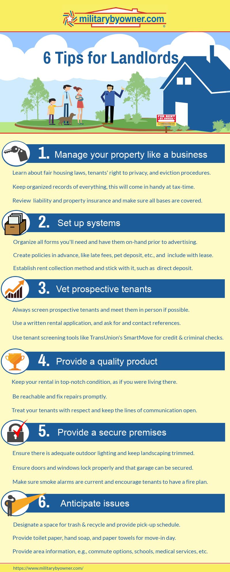 6 Tips for Landlords