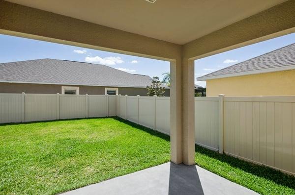 Riverview Florida backyard
