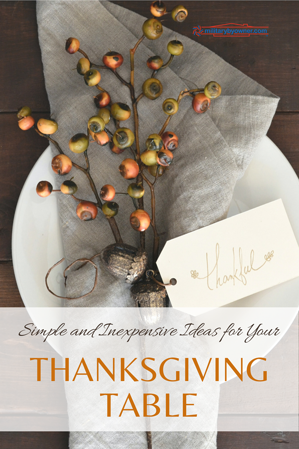 Simple and Inexpensive Thanksgiving Tablescaping Ideas