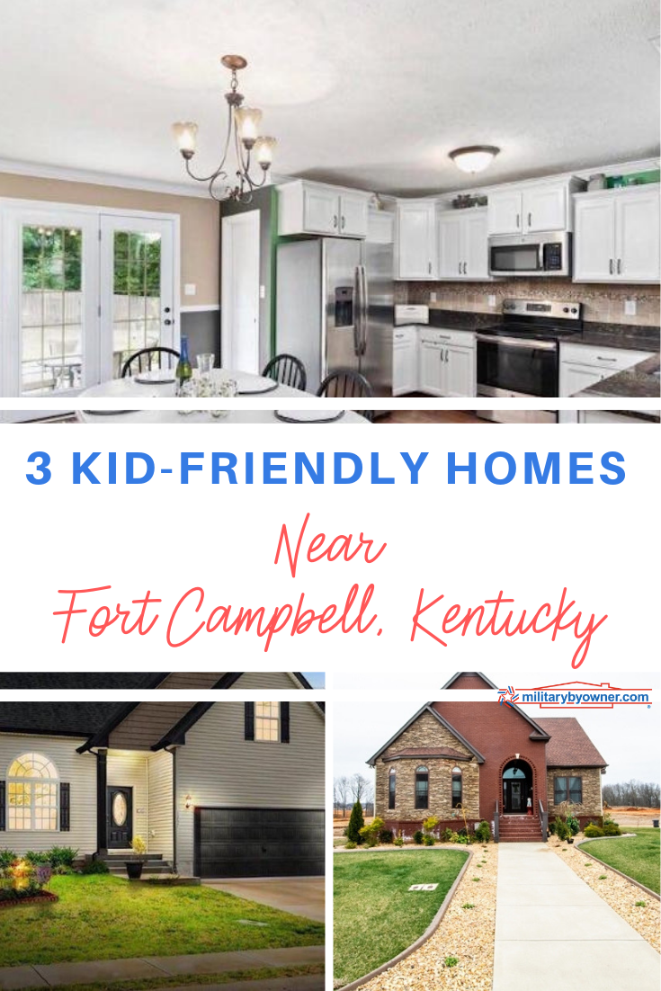 3 Kid-Friendly Homes Near Fort Campbell, Kentucky