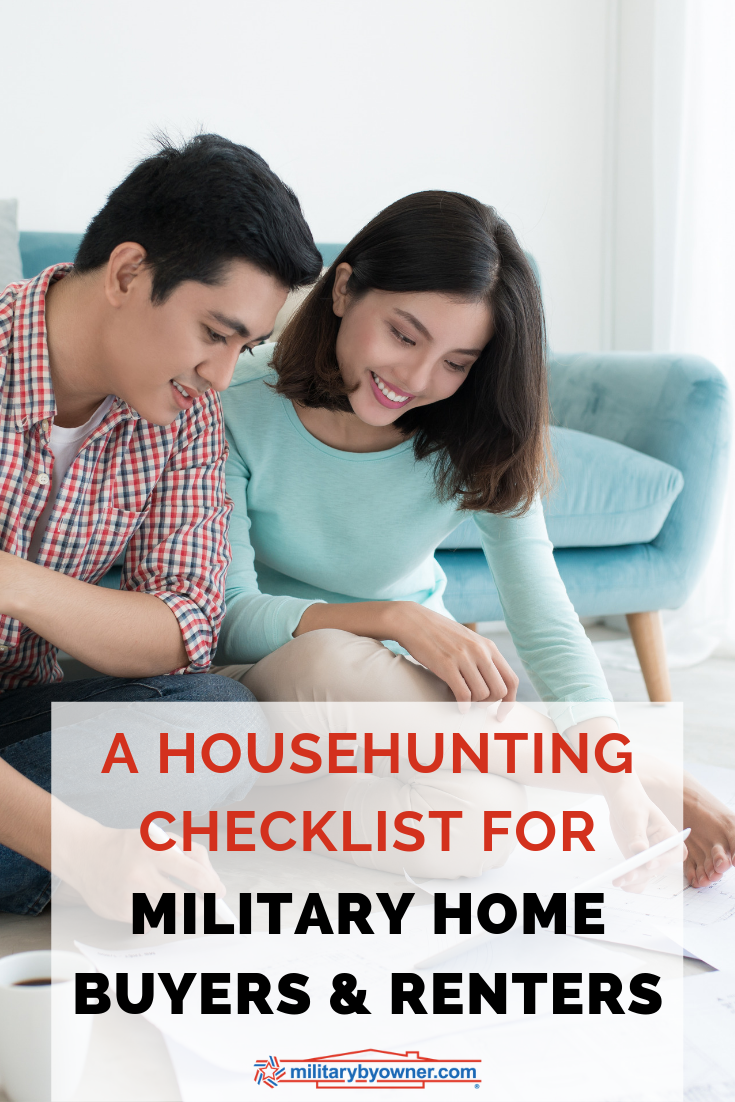 A Househunting Checklist for Military Home Buyers and Renters