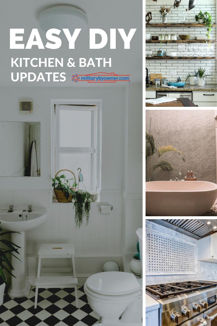 Easy DIY Kitchen and Bath Updates