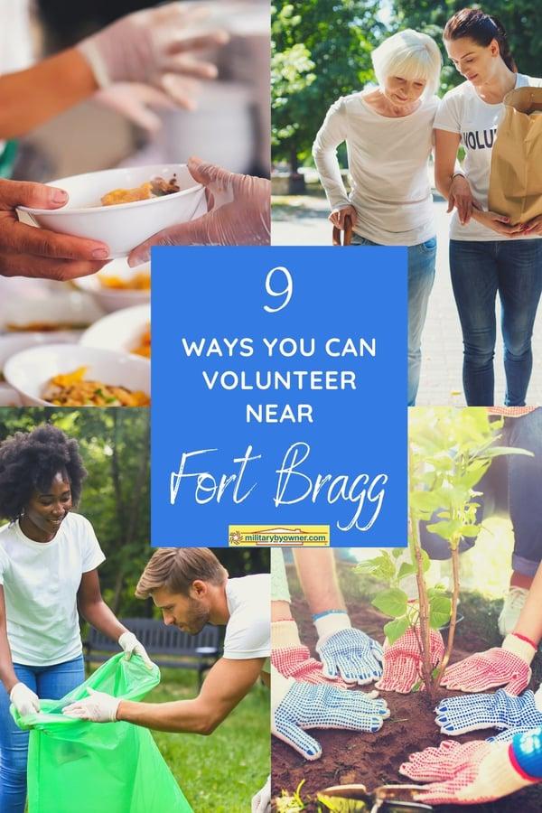 9 Ways You Can Volunteer Near Fort Bragg
