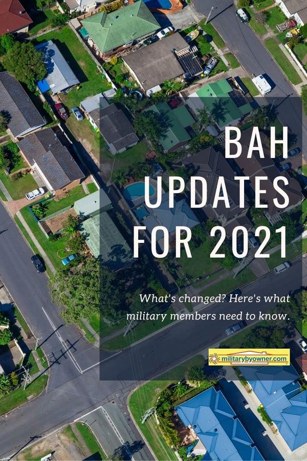 BAH updates for 2021