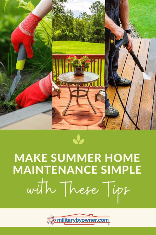 Summer Home Maintenance Made Simple