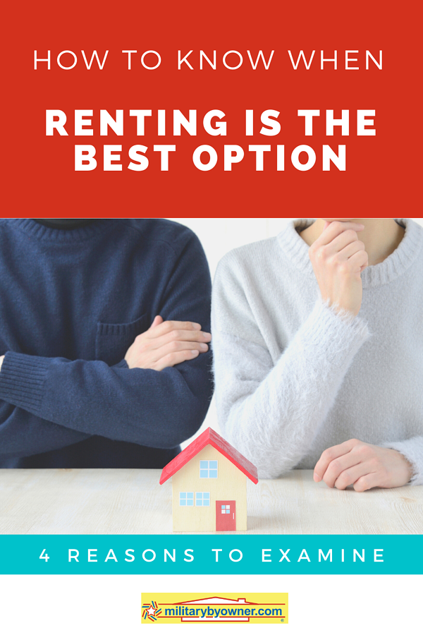 How to know when renting is the best option