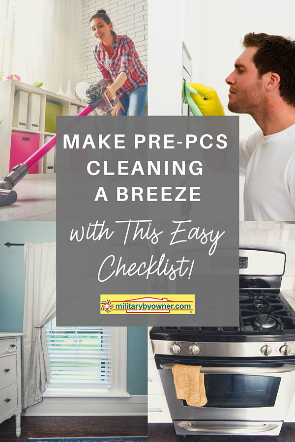 Make Pre-PCS Cleaning a Breeze with this Easy Checklist