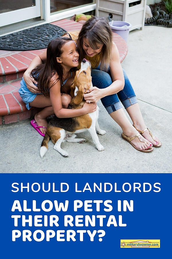 Should Landlords allow pets in their rental property?