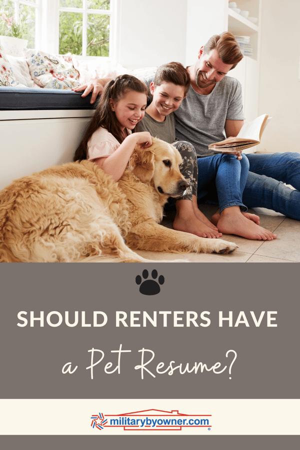 Should Renter Have a Pet Resume