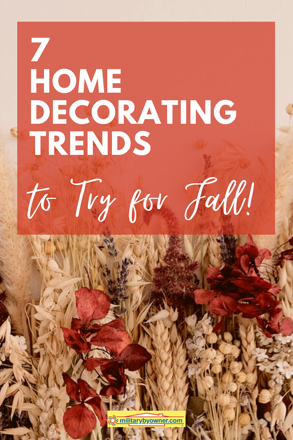 fall home decorating trends