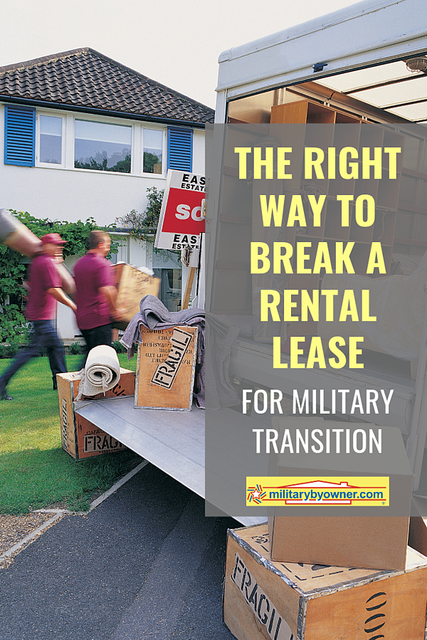 The Right Way to Break a Rental Lease for Military Transition