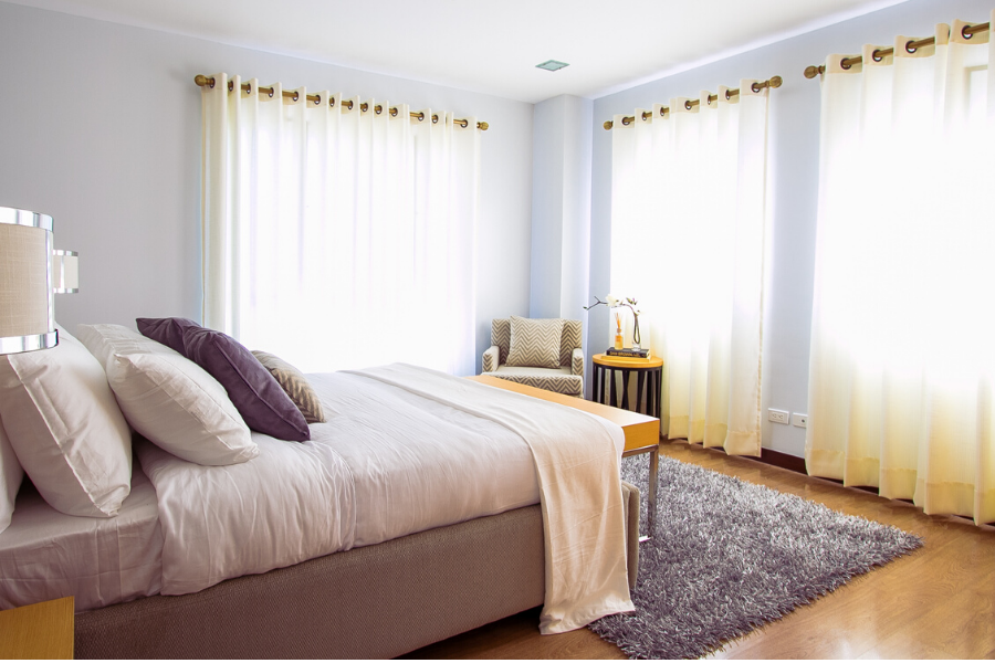 Window coverings of all kinds can make a marked improvement in the warmth and personality of an otherwise drab room.