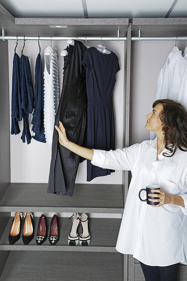 A walk-in closet overhaul can add value for your home sale.