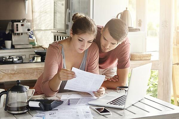 Organize your financial paperwork before applying for a home loan.