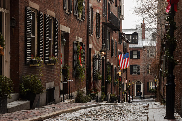 Acorn Street, Boston MA