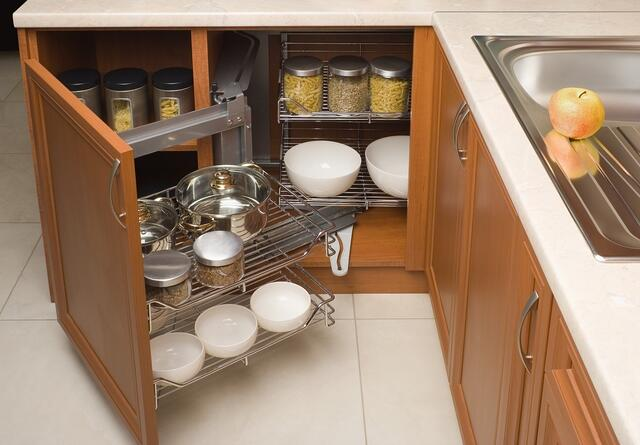 Use every available area in your kitchen for storage.