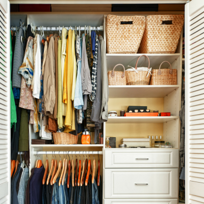 Organize your personal items so buyers can see your home!