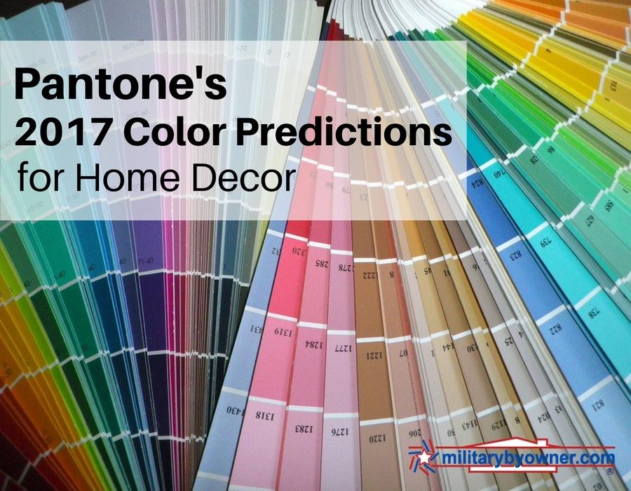 Pantone's 2017 Color Predictions for Home Decor